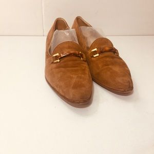 Gucci Vintage Suede Bamboo Horsebit Loafers Shoes